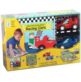 【我的賽車場 MY LITTLE RACING CIRCUIT 】內含故事書+拼圖+木質偶