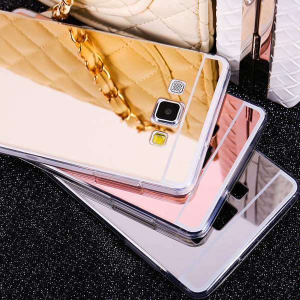 【SZ】電鍍 鏡面 鏡子 TPU軟殼三星A8手機殼 A7 A5 (A7 2016)(A5 2016)