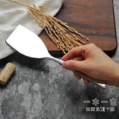 料理鏟 18-10不銹鋼鐵板鏟料理鏟牛排鏟燒烤鏟蛋糕鏟平頭小鏟刀帶刃煎鏟