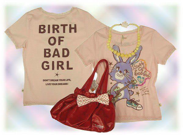 【波克貓哈日網】 春夏短袖T恤◇兔子圖案◇《粉紅色》蕾絲收邊