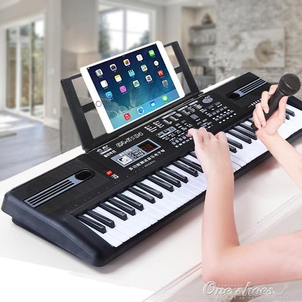 兒童電子琴女孩鋼琴初學3-6-12歲61鍵麥克風寶寶益智早教音樂玩具 【免運快出】