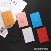自動名片夾 手推式輕便名片盒 男士女士金屬卡片盒 定制刻字