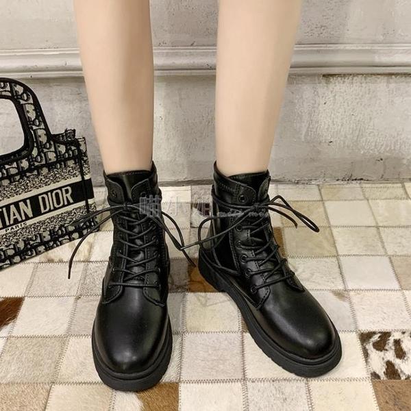 帥氣黑色馬丁靴女2020新款夏季英倫風百搭潮ins學生薄款短靴秋冬 喵小姐