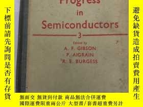 二手書博民逛書店progress罕見in semiconductors 3(H1