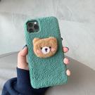 ins毛絨絨iphone11pro手機殼8plus可愛6小熊xmsaxiPhoneXR秋冬軟殼7 店慶降價