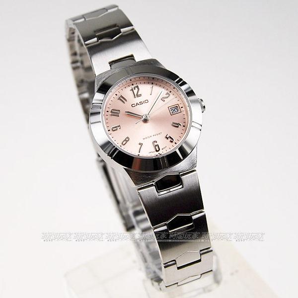 CASIO 卡西歐 LTP-1241D-4A3 簡約指針錶 粉色面 33mm 女錶 LTP-1241D-4A3DF