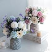 粉色清雅仿真花藝套裝歐式假花干花束客廳餐桌電視櫃擺件家居裝飾 FF5806【美鞋公社】