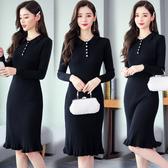 洋裝 6003#毛衣連身裙打底衫女HF303快時尚