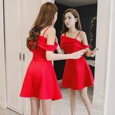 夜店女裝新款小心機性感吊帶連身裙夏季短裙