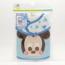 日本 Disney迪士尼棉質圍兜 雙面單入-藍米奇(A2C00-80) -超級BABY
