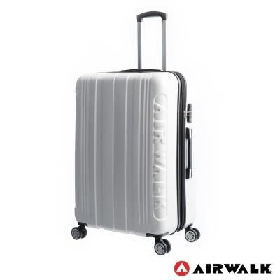 美國AIRWALK LUGGAGE - 碳纖維紋系列 可加大 登機箱/行李箱-20吋-白