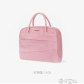 正韓女士時尚手提公文包大容量辦公商務包通勤包休旅行包 交換禮物