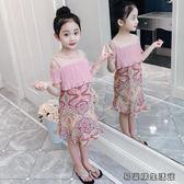 童裝兒童洋氣裙子夏季女孩連衣裙