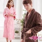 出清六折 咖啡/深粉 男女通用柔軟珊瑚絨綁帶睡袍 浴袍 日系居家睡衣 天使甜心Angel Honey