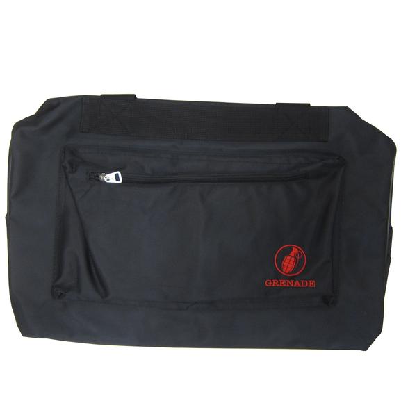 ~雪黛屋~GRENADE 旅行袋大容量防水尼龍布雙拉鍊頭拉鍊式主袋附活動型護肩止滑長背帶撐板G010