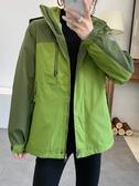 防風外套惠衣閣秋冬女可拆卸內膽兩件套裝長袖外套戶外保暖防風防雨沖鋒衣新品來襲