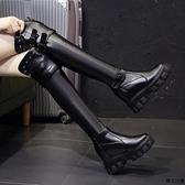 及膝靴女膝上靴 長靴女春秋內增高2021網紅爆款馬丁靴新款過膝高筒靴小香風騎士靴 秋冬上新