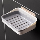 雙慶5277肥皂盒吸盤壁掛免打孔香皂盒雙層瀝水盒置物架衛生間皂盒5277