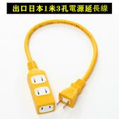 出口日本2P3插電源延長線1米 現貨