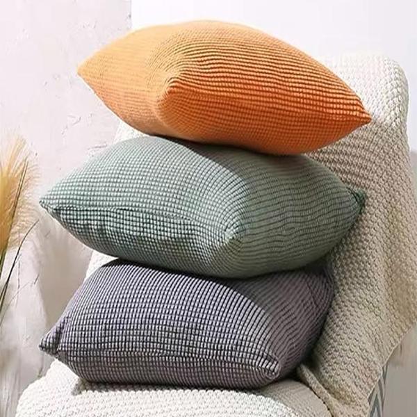 北歐簡約辦公室抱枕正方形絨抱枕套不含芯腰枕客廳靠墊枕墊沙發 樂活生活館