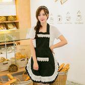 韓版蕾絲圍裙工作圍裙咖啡店圍裙廚房韓版時尚做飯圍裙廚房女