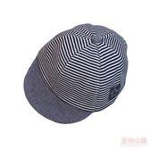 嬰兒童遮陽網帽夏季薄款男女童純棉胎帽條紋鴨舌帽新生兒棒球帽子