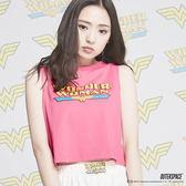 OUTER SPACE X DC正義聯盟-Wonder Woman曲線背心(粉)(台灣限定)