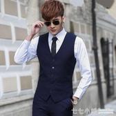 馬甲男西裝韓版潮流西服薄款小英倫正裝春秋休閒工裝男士外套