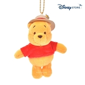 【SAS】日本限定 迪士尼商店 Disney Store 小熊維尼 草帽版 珠鍊吊飾玩偶娃娃