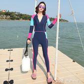 潛水服女連體防曬長袖長褲泳衣大碼浮潛服沖浪服水母衣 娜娜小屋