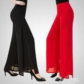 褲裙 闊腿褲雪紡2021春夏新款韓版高腰褲子寬鬆女褲顯瘦甩褪褲直筒裙褲 萊俐亞