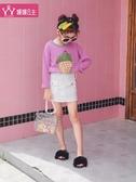 兒童長袖T恤 女童T恤2020新款中大童媛媛公主潮童裝時髦洋氣韓版長袖女孩上衣 小宅女