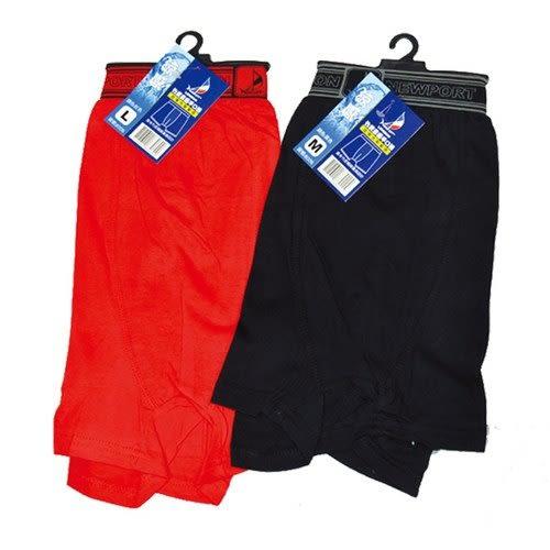NEWPORT 竹炭素面平口褲(P8006) M 隨機