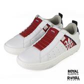 Royal Elastics Manhood 白色 皮質 套入 休閒運動鞋 男款 NO.B1500【新竹皇家 06501-015】