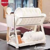 瀝水架 科翼雙層碗碟架廚房置物架廚房用品用具瀝水碗架碗櫃碗筷盒 Cocoa IGO