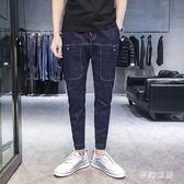2019學生休閒褲春秋款帥氣洋氣青年大碼牛仔褲 QW2937『夢幻家居』