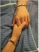 情侶手錬一對玫瑰金手環韓版學生簡約男女可刻字姐妹閨蜜手鐲