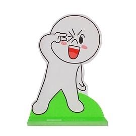 【金玉堂文具】LINE FRIENDS 可站立造型便條紙 YA饅頭人 N次貼 (62003) 便利貼