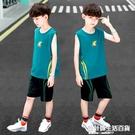 男童夏款速干無袖短褲套裝兒童運動籃球服2020新款背心球衣10歲潮 設計師生活