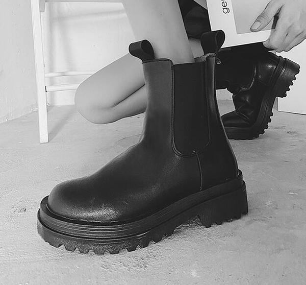 短筒靴 高幫女2020新款夏季薄款透氣百搭潮短筒顯瘦短靴