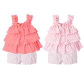 無袖套裝 蛋糕裙上衣 短褲 褲子 女寶寶 熱褲 2件套 Augelute Baby 61138