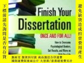 二手書博民逛書店Finish罕見Your Dissertation Once A