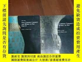 二手書博民逛書店佳士得紐約2012罕見中國瓷器工藝品兩冊合售 FINE CHIN