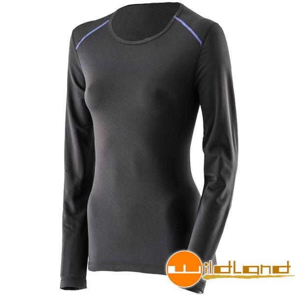 Wildland 荒野 0A22663-54黑色 女 輕量銀離子抗菌保暖衣
