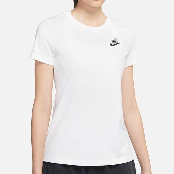Nike Sportswear 女裝 短袖 休閒 純棉 卡通圖樣 雲朵 晴天 白【運動世界】DJ6296-100