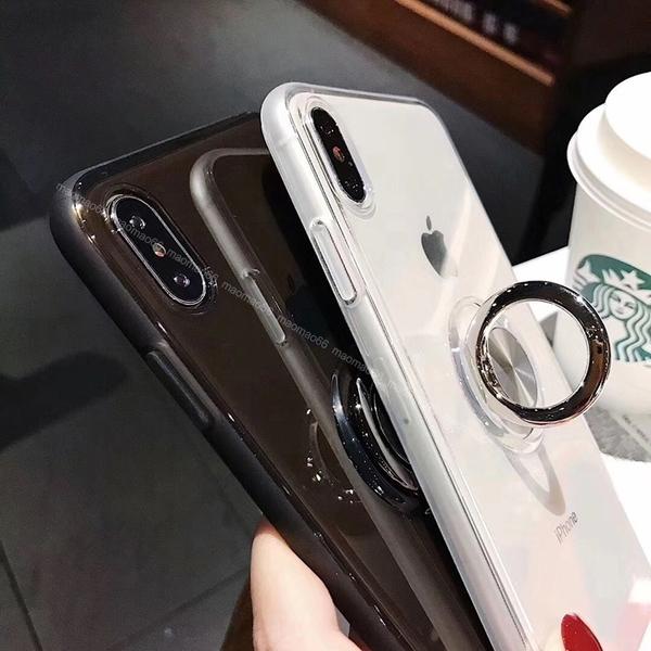 透明車載磁吸 iPhone SE2 XS Max XR i7 i8 i6 i6s plus 手機殼 隱形指環 影片支架 防撞防摔 全包邊軟殼