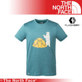 【The North Face 美國 男 排汗咖啡紗短T/L《深藍》】3CJK/吸濕排汗/透氣/運動衣/上衣/休閒★滿額送