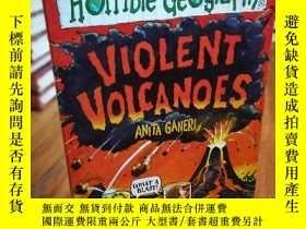 二手書博民逛書店Violent罕見Volcanoes (Horrible Geo