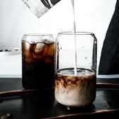 奶茶杯子 網紅ins風可樂杯創意玻璃水杯子咖啡杯易拉罐杯子奶茶杯雞尾酒杯客製