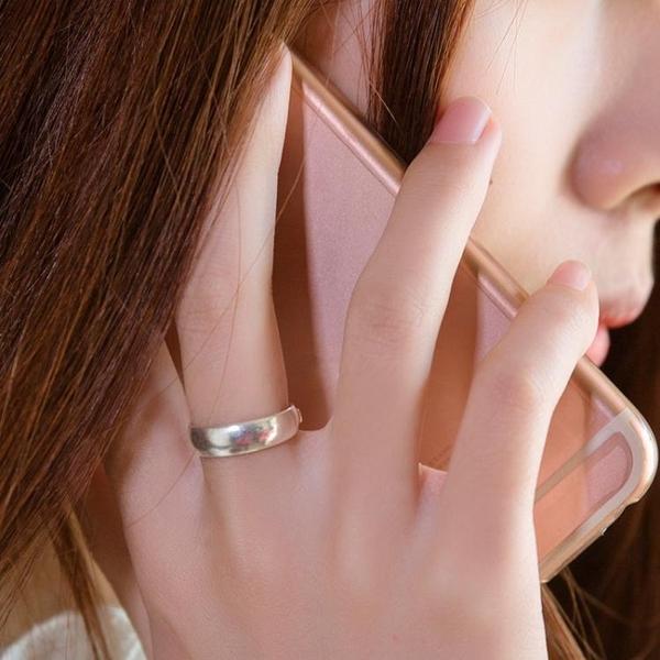 戒指 順欽銀樓足銀戒指 s999飾品光面情侶戒指手工戒指情人節禮物 尾牙